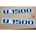 Unimog U 1500 Typenkennzeichen 2x Türe Typenbezeichnung Aufkleber Sticker