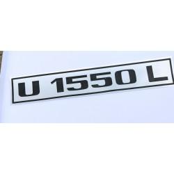 U1550L Typenbezeichnung Typenkennzeichen UNIMOG