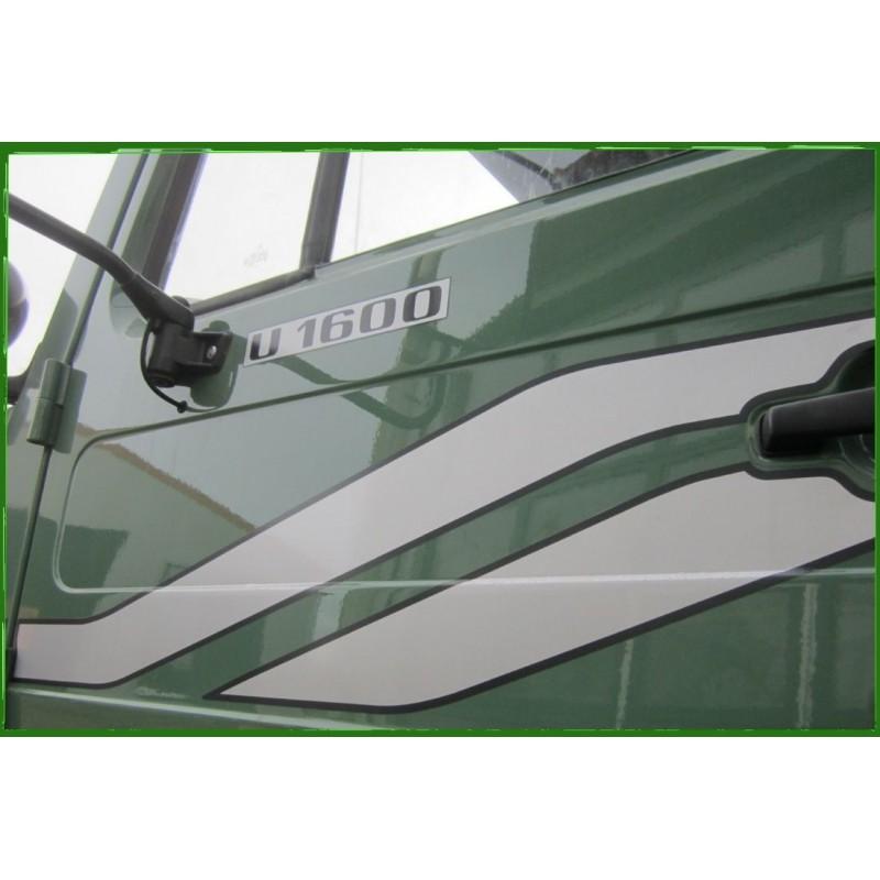 Unimog U 1600 Typenkennzeichen 2x Türe Aufkleber Sticker A6