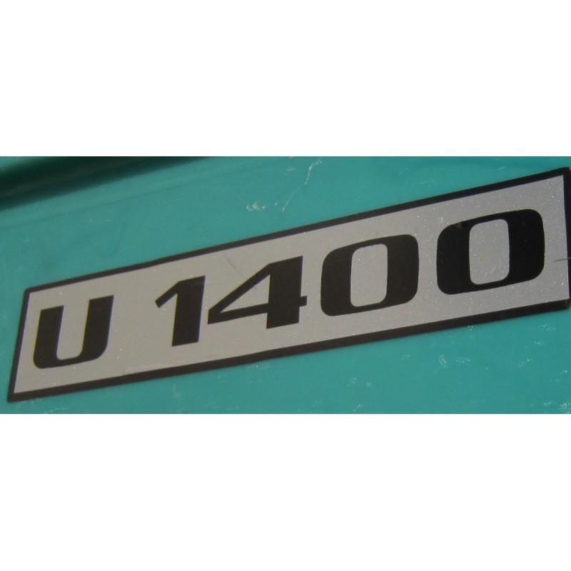 Unimog U 1400 Typenkennzeichen 2x Türe Typenbezeichnung Aufkleber Sticker