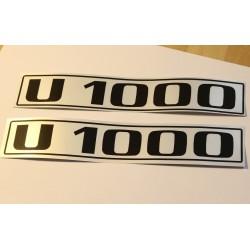Unimog U1000 Typenkennzeichen für die Türen
