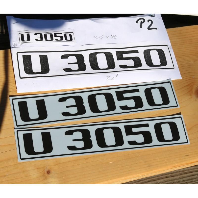 Unimog U3050 Typenkennzeichen 2x Türe Typenbezeichnung Sticker Aufkleber