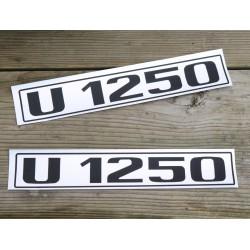 Unimog U1250 Typenkennzeichen beidseitig 2x Türe  A08