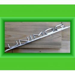 Schriftzug UNIMOG Haube 403 421 406 LOGO Emblem Metall