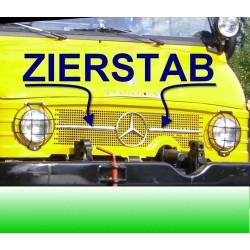 Zierleiste Zierstab Unimog 421 406 403 407 Kühlergrill 2 Stück