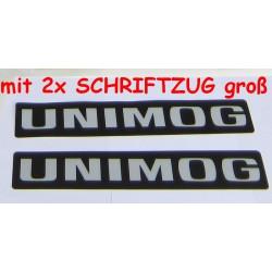 Dekorstreifen UNIMOG 424 425 427 435 mit 2x Schriftzug