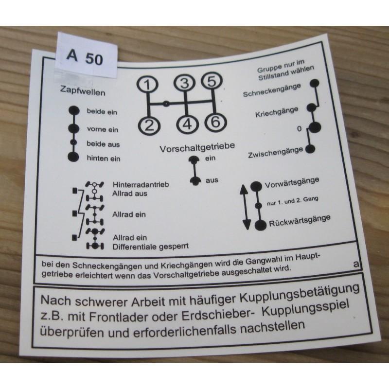 Schaltschema  UNIMOG  421 403 406 416   Vorschaltgetriebe